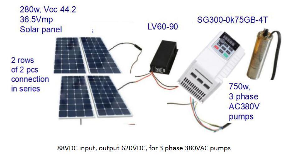 Solar Voltage Booster Dc Low Dc Input Big Dc Output 60v To 100vdc Input 240v To 300vdc Output